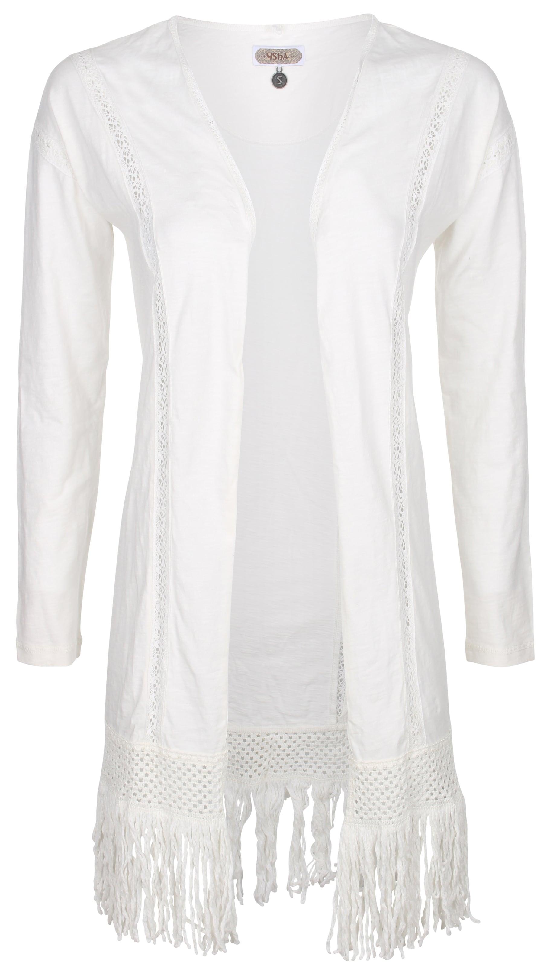 Cardigan En Usha Blanc Cardigan Cardigan Usha Usha Blanc Cardigan Blanc En Usha En cTlK1FJ3