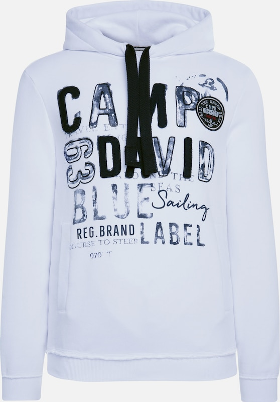 CAMP DAVID Hoodie in weiß, Produktansicht