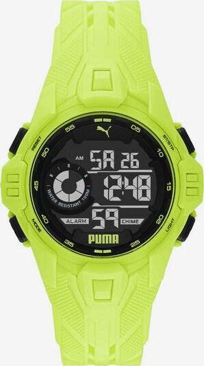 PUMA Uhr 'Bold, P5041' in gelb, Produktansicht