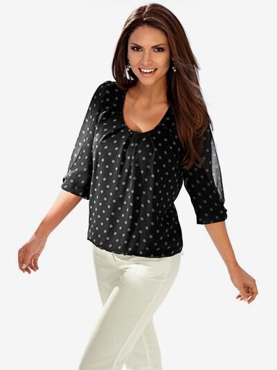 heine Chiffonbluse in schwarz / weiß, Modelansicht