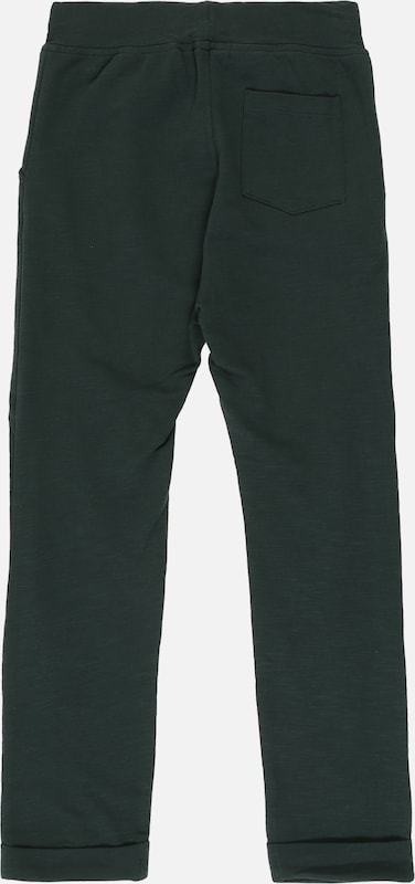 NAME IT Hose 'NMMNAJAN LIGHT SWEAT PANT UNB' in dunkelgrün: Rückansicht
