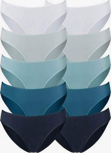 GO IN Bikinislip in nachtblau / azur / hellblau / petrol / weiß, Produktansicht