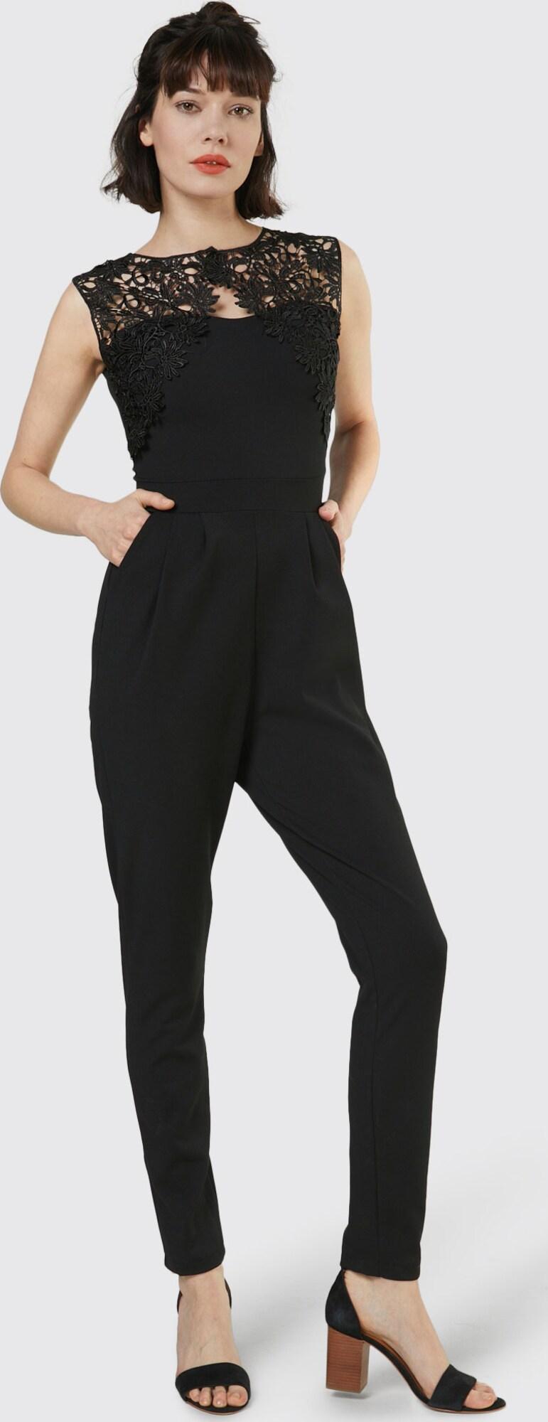 wal g jumpsuit mit spitze in schwarz about you. Black Bedroom Furniture Sets. Home Design Ideas
