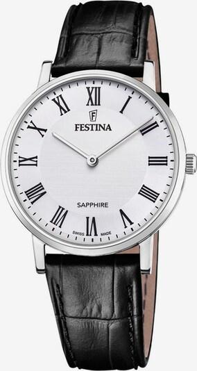FESTINA Festina Schweizer Uhr »Festina Swiss Made, F20012/2« in schwarz / silber / weiß, Produktansicht