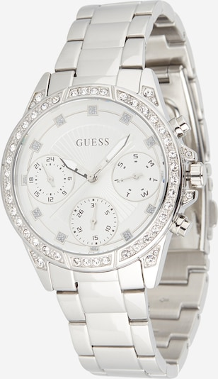 GUESS Uhr 'Gemini' in silber: Frontalansicht