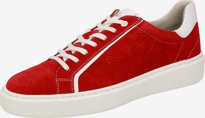 SIOUX Sneaker 'Saskario' in hellrot / weiß, Produktansicht