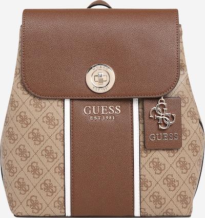 GUESS Rucksack 'Cathleen' in braun / hellbraun / weiß, Produktansicht