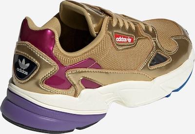 ADIDAS ORIGINALS Sneaker 'Falcon' in gold / weiß: Rückansicht