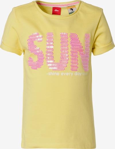 s.Oliver T-Shirt in gelb / hellpink, Produktansicht