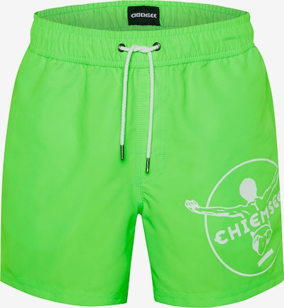 CHIEMSEE Badeshorts in grün / weiß, Produktansicht