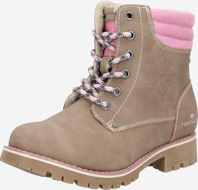 TOM TAILOR Stiefel in dunkelbeige / pink, Produktansicht