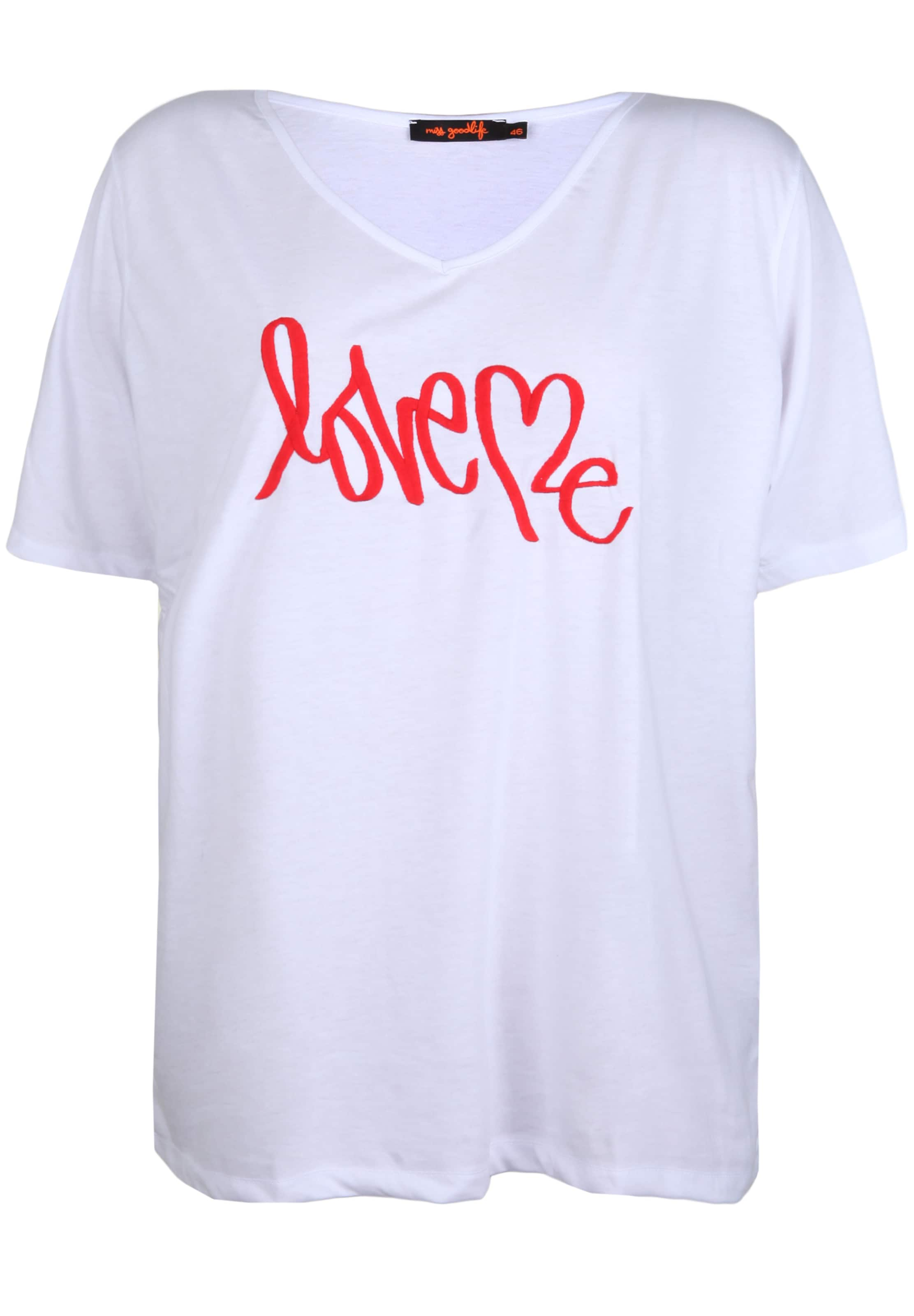 Miss shirt In Goodlife T 'love RotWeiß Me' WYeIEH9D2