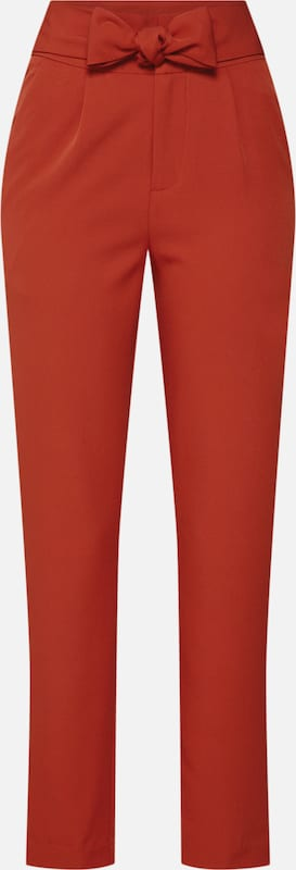 Fashion Union Hose 'MISON TROUSERS' in feuerrot: Frontalansicht