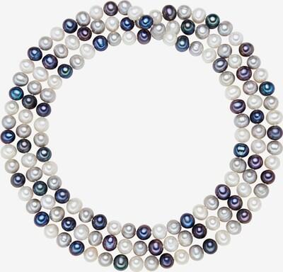 Valero Pearls Kette in dunkelblau / grau / weiß, Produktansicht