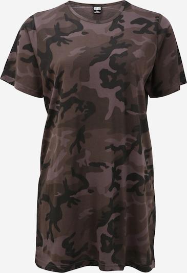 Urban Classics Curvy Kleid in khaki / schwarz, Produktansicht