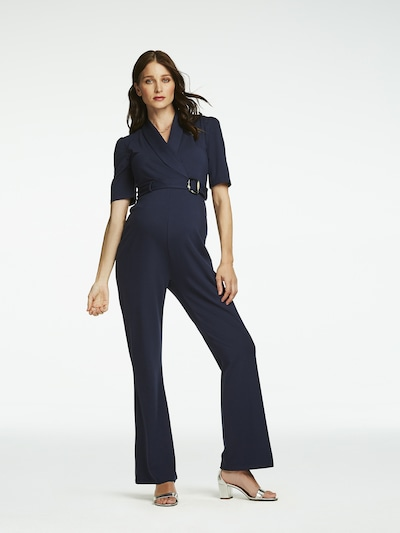 QUEEN MUM Jumpsuit 'Praque' in marine, Modelansicht