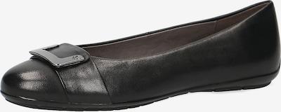 CAPRICE Klassische Ballerinas in schwarz, Produktansicht