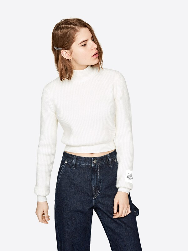 Pepe Jeans Pullover 'SILVI'    Dua Lipa   Collection in weiß, Modelansicht