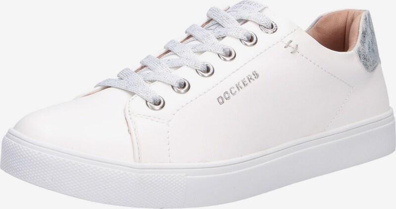 Dockers by Gerli Sneakers laag in Zilver / Wit X1ORUdo8
