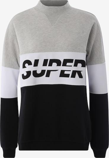 Sportinio tipo megztinis 'SPORT PUSHER CREW' iš Superdry , spalva - juoda / kiaušinio lukšto spalva: Vaizdas iš priekio