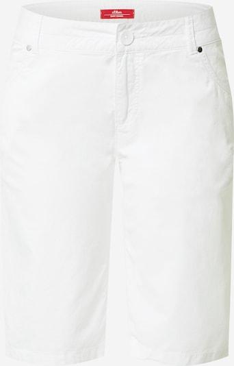 s.Oliver Pantalon en blanc, Vue avec produit