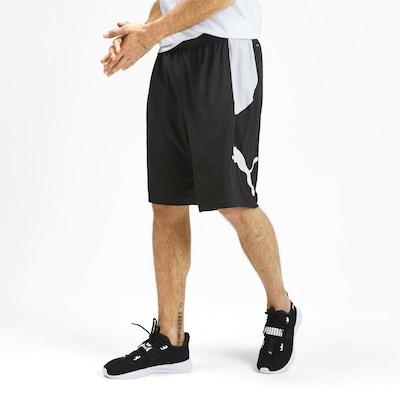 PUMA Pantalon de sport 'Cat' en noir / blanc: Vue de face