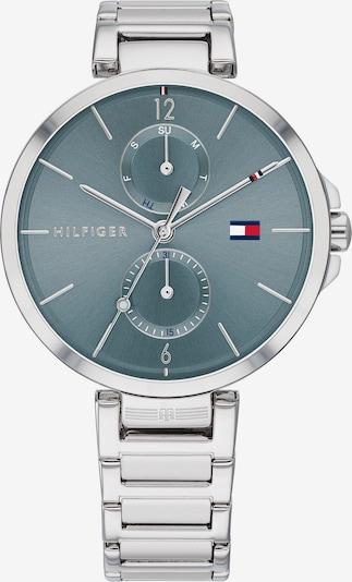 TOMMY HILFIGER Uhr in taubenblau / silber, Produktansicht
