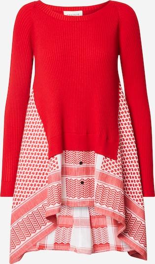Cecilie Copenhagen Pullover 'Diana' in rot / weiß, Produktansicht