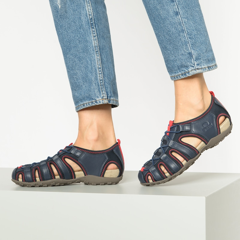 GEOX Sandale 'Donna Strel' in navy rot | ABOUT YOU SZkdn