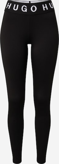 HUGO Pantalon en noir, Vue avec produit
