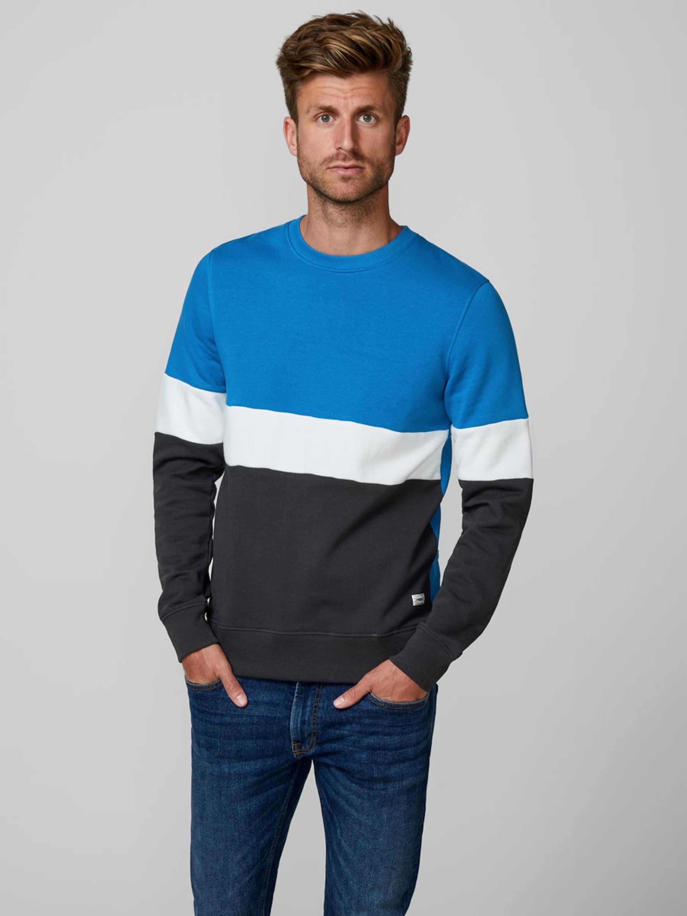 En Bleu Produkt Blanc Sweat CyanNoir shirt 8XnOkNwP0