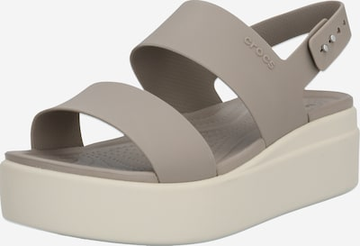 Crocs Sandalen 'Brooklyn' in greige, Produktansicht