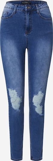 Missguided Jean 'SINNER DISTRESS KNEE CUT HEM HIGH WAISTED SKINNY JEAN' en bleu clair, Vue avec produit