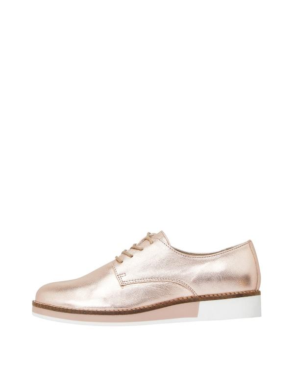 Bronze Lacets Marron Chaussure Blanc En À Bianco q0w6EXW