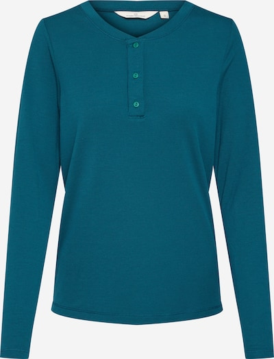 basic apparel Shirt 'Laila LS tee' in de kleur Petrol, Productweergave