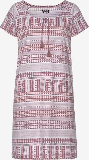 VIVANCE Nachthemd in rot / weiß, Produktansicht