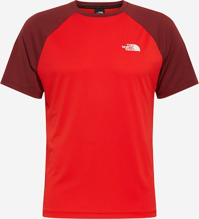 THE NORTH FACE Functioneel shirt in de kleur Rood / Wijnrood / Wit, Productweergave