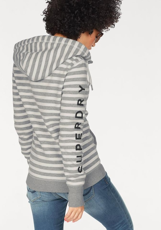 Superdry Kapuzensweatjacke 'APPLIQUE ZIPHOOD'