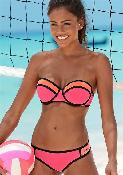 BENCH Balconette-Bikini in orange / koralle / pink, Modelansicht