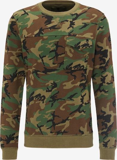 TUFFSKULL Sweatshirt in braun / khaki, Produktansicht