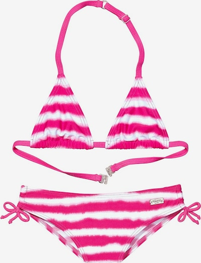 BUFFALO Triangel-Bikini in pink / weiß, Produktansicht