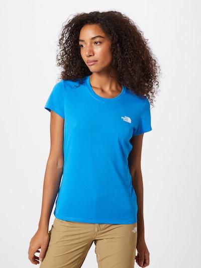 THE NORTH FACE T-shirt fonctionnel 'Reaxion' en bleu / blanc, Vue avec modèle