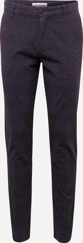SELECTED HOMME Hose 'SLHSLIM-ARVAL DARK CHECK PANTS W' in schwarz, Produktansicht