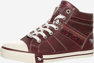 MUSTANG Sneaker mit Glitzerdetails  in bordeaux: Frontalansicht