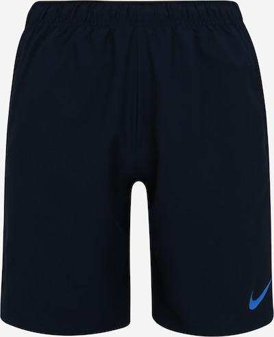 NIKE Pantalon de sport 'Flex' en bleu foncé / mélange de couleurs, Vue avec produit