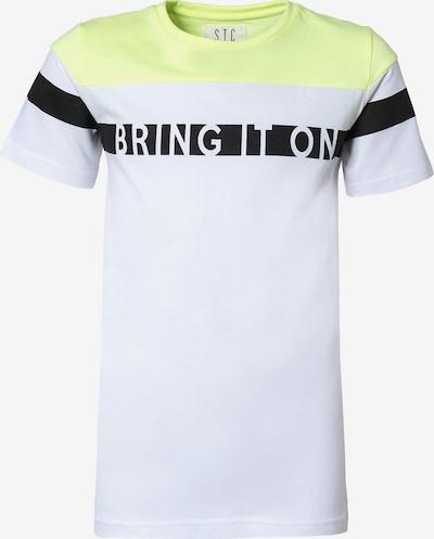 STACCATO T-Shirt in pastellgelb / schwarz / weiß, Produktansicht