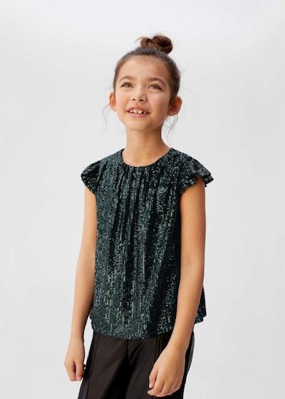 MANGO KIDS Shirt 'Berryt' in de kleur Smaragd: Vooraanzicht