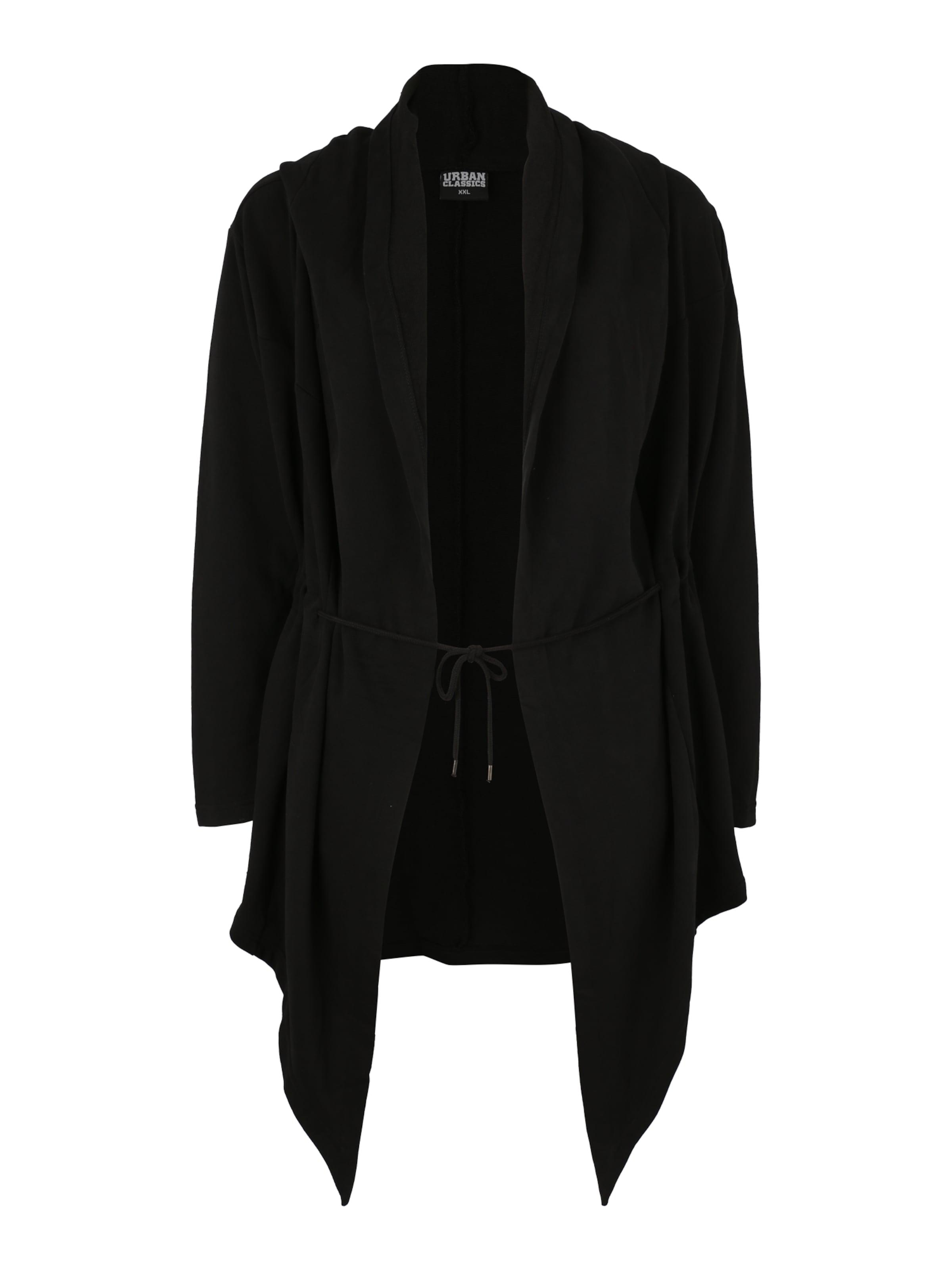 Urban Sweat Veste En Curvy Cardigan' Classics Survêtement 'ladies Hooded Noir De 5ARj34L