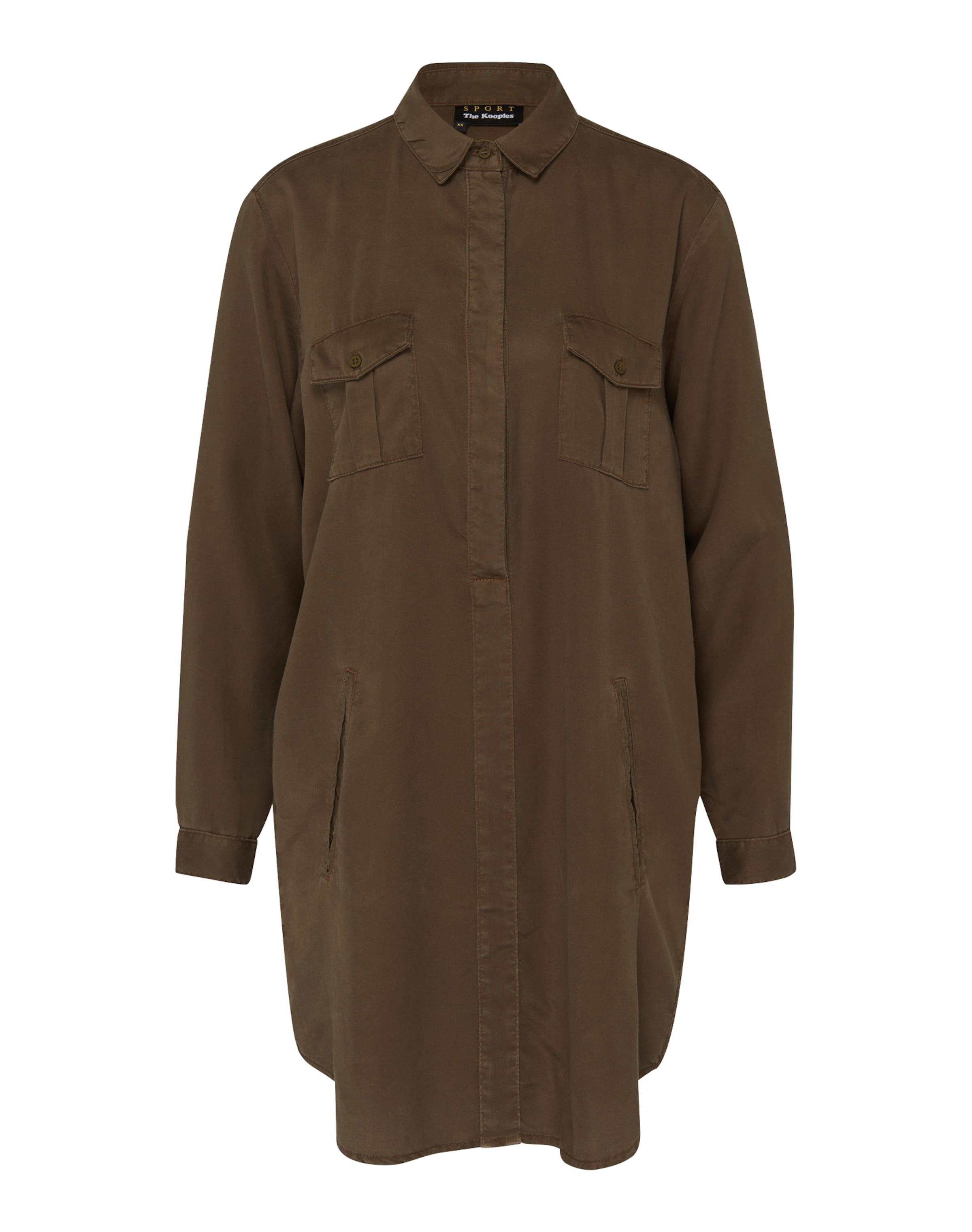 THE KOOPLES SPORT Hemd-Kleid mit Brusttaschen 2018 Kühl Großer Rabatt Zum Verkauf kSWxika