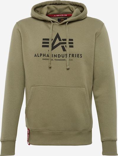 ALPHA INDUSTRIES Sweatshirt in oliv / schwarz, Produktansicht